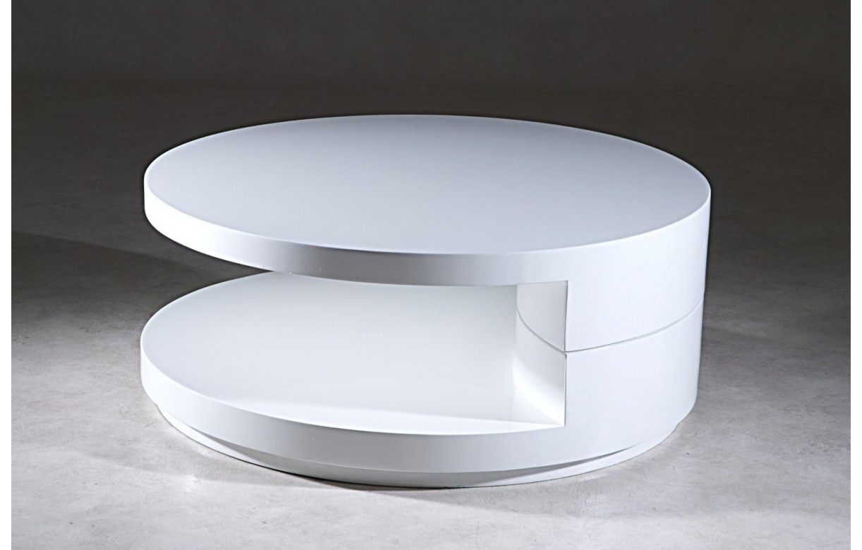 Table Basse Ronde Design Blanche – Phaichicom -> Alinea Table Avec Plateau