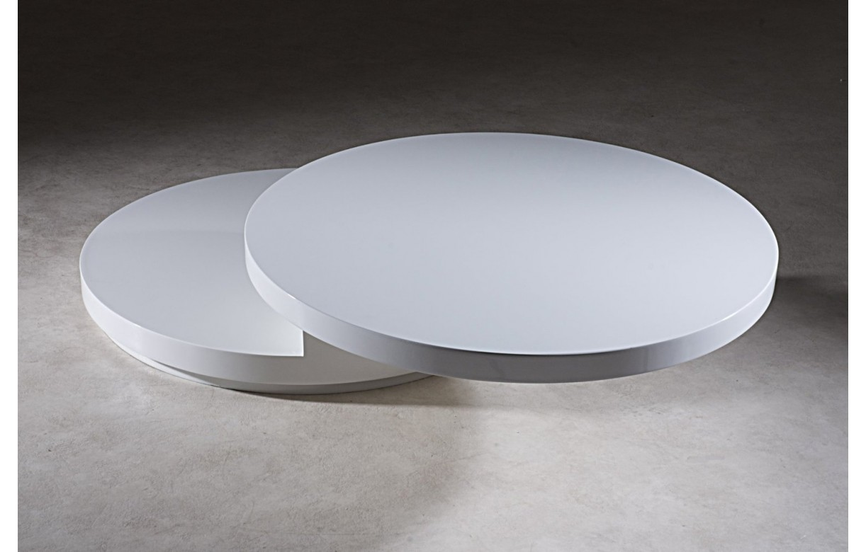 Table basse ronde blanche maison design for Table ronde blanche