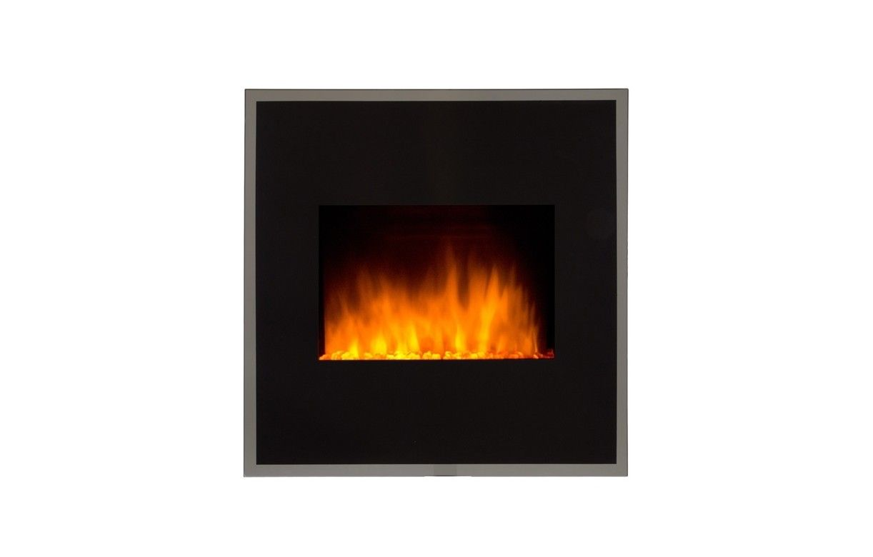 Cheminee electrique 1800w black river for Cheminee decorative murale electrique