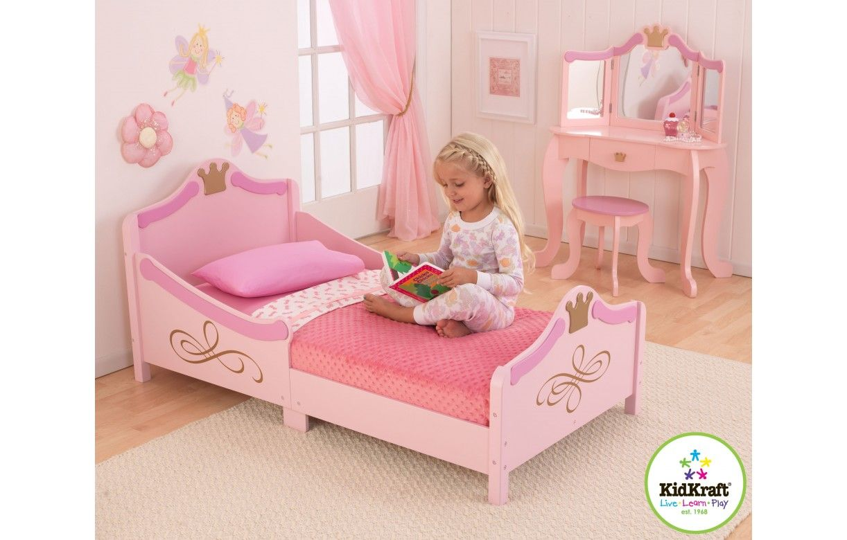 Lit petite fille rose princesse kidkraft 76139 for Photo de lit pour fille