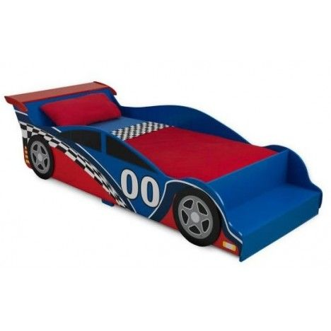 lit petit gar on bleu et rouge voiture formule 1 decome store. Black Bedroom Furniture Sets. Home Design Ideas