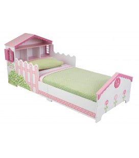 Lit petite fille rose Maison de poupée
