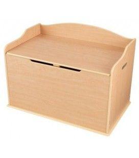 Coffre à jouets rangement de chambre bois Naturel