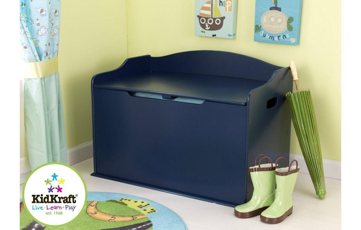 Coffre à jouets rangement de chambre bleu myrtille   decome store