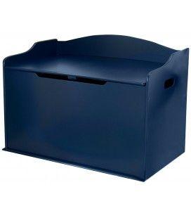 Coffre à jouets rangement de chambre bleu Myrtille