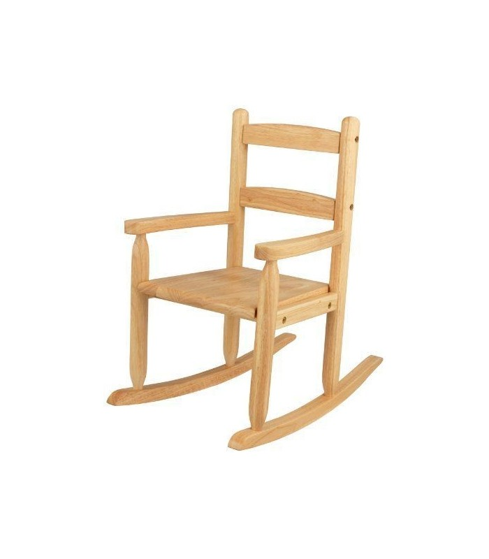 Chaise bascule rocking chair pour enfant en bois for Chaise a bascule enfant