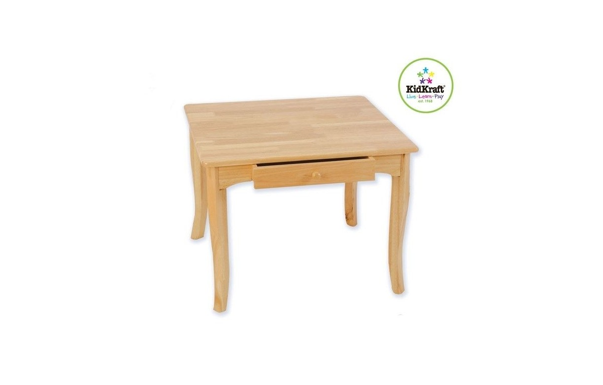 table pour enfant en bois de caoutchouc avec tiroir avalon. Black Bedroom Furniture Sets. Home Design Ideas