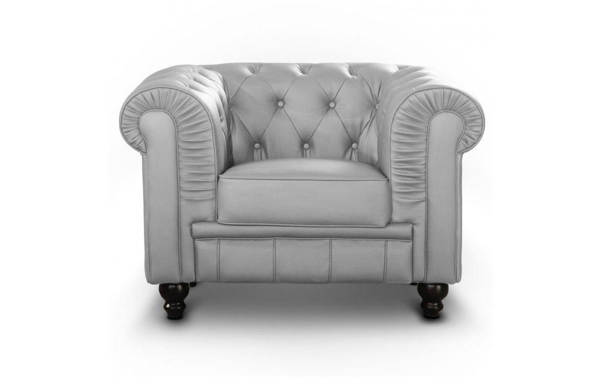 fauteuil en simili cuir capitonn chesterfield 7 coloris decome store. Black Bedroom Furniture Sets. Home Design Ideas