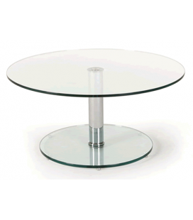 table basse en verre noir et pieds en acier inox brillant stella decome store. Black Bedroom Furniture Sets. Home Design Ideas