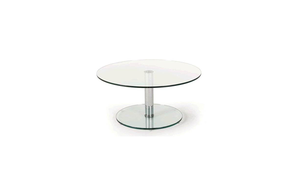 Tables gigogne en verre transparent - Table basse gigogne verre ...