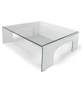 Table basse fixe en verre PONTI