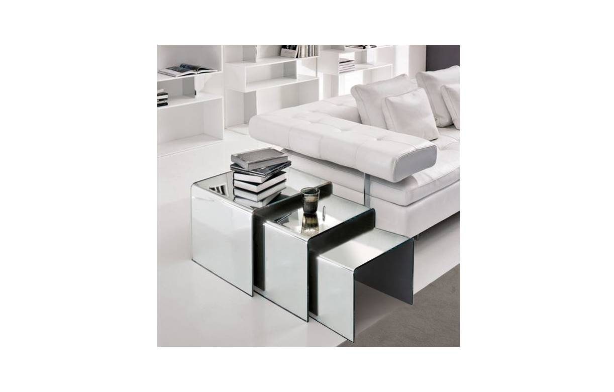 table basse verre miroir. Black Bedroom Furniture Sets. Home Design Ideas