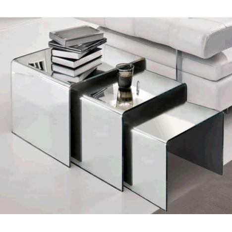 table basse en verre effet miroir. Black Bedroom Furniture Sets. Home Design Ideas
