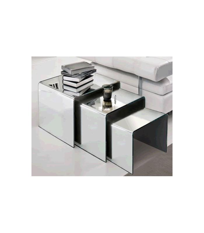table basse verre miroir. Black Bedroom Furniture Sets. Home Design Ideas