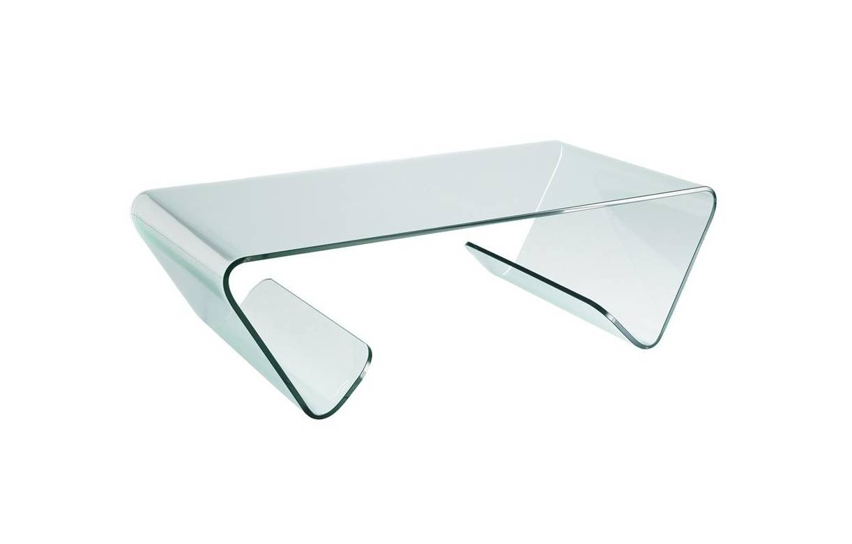 Table basse en verre design haut de gamme for Table haute en verre