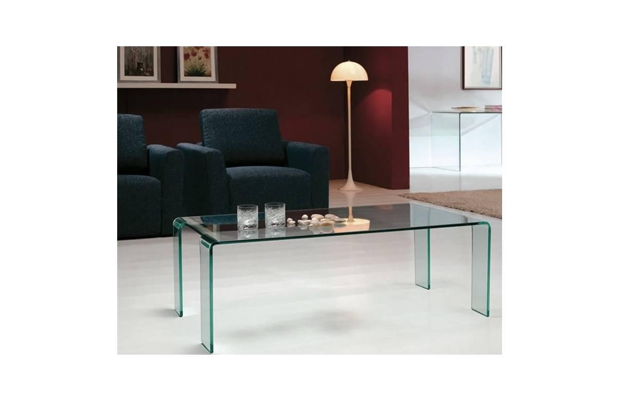Table basse fixe en verre tremp pas ch re - Table basse tout en verre ...