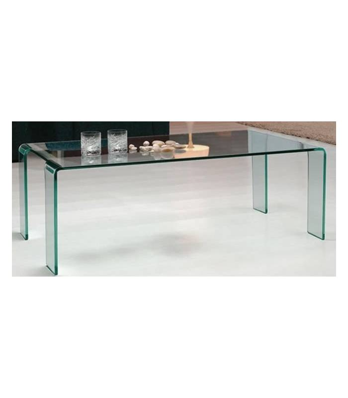 Table basse fixe en verre tremp pas ch re - Table en verre pas chere ...