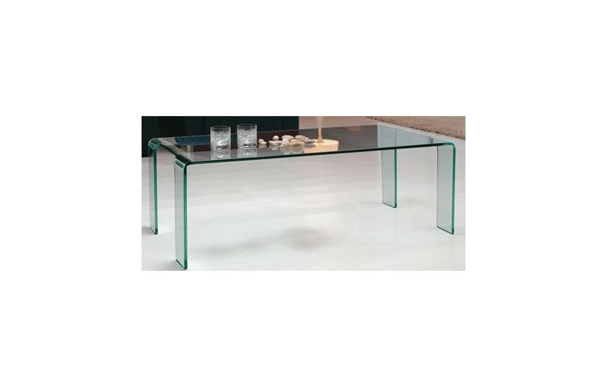 Table basse fixe en verre tremp pas ch re - Table basse tout en verre ...