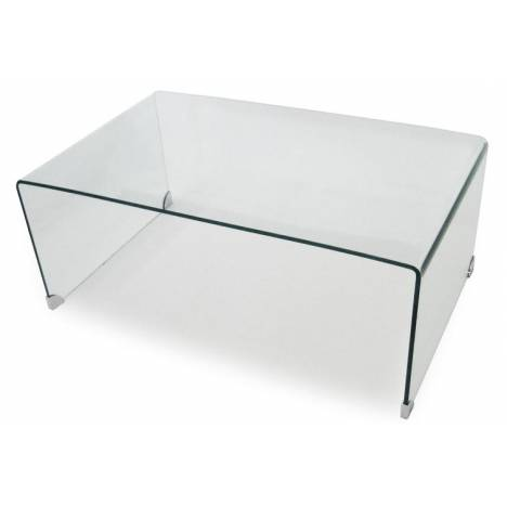 table basse en verre tremp transparent rectangle. Black Bedroom Furniture Sets. Home Design Ideas