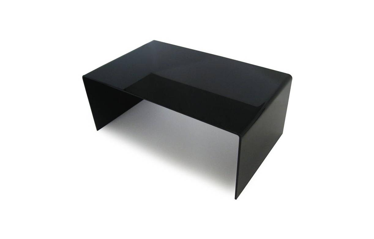 Table basse noir en verre - Table basse en verre trempe noir ...