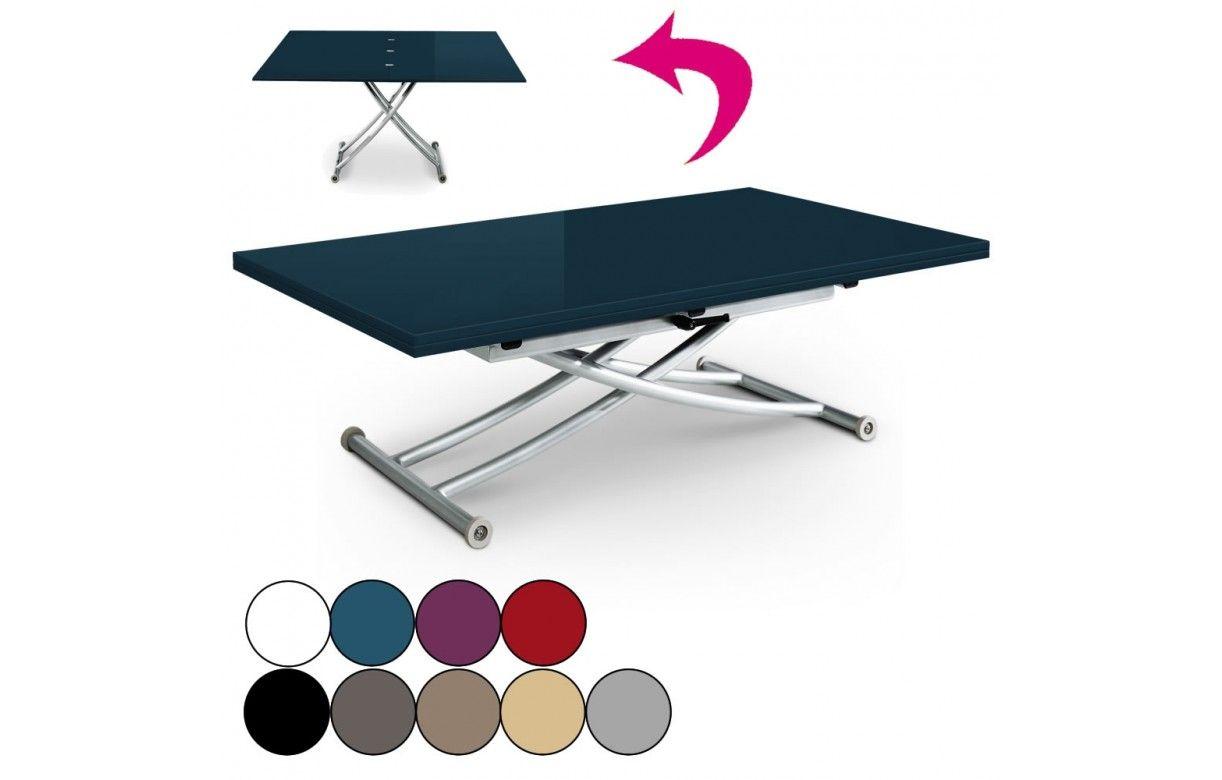 table basse laqu e relevable et d pliable carreraia xl 9 coloris decome store. Black Bedroom Furniture Sets. Home Design Ideas