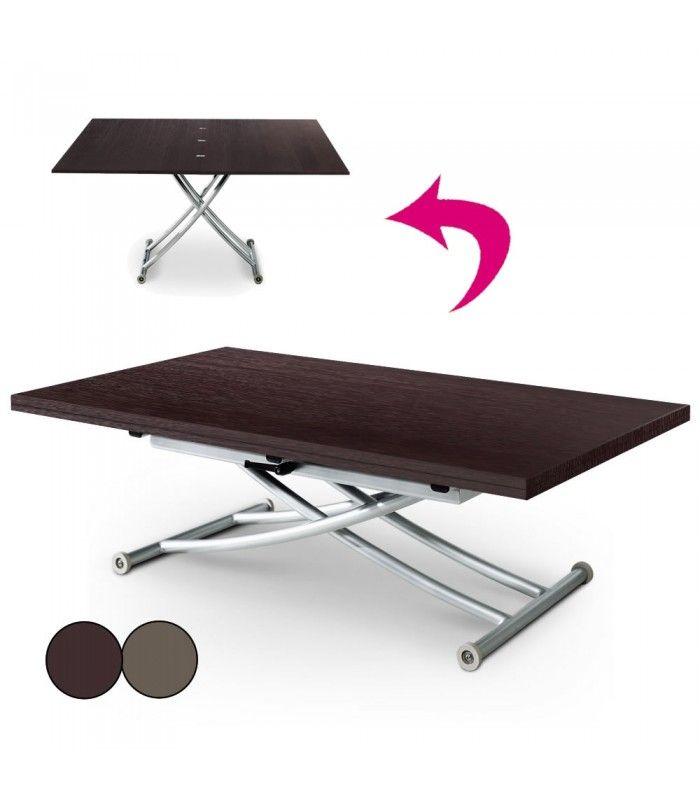 table basse relevable en bois brut weng ou vintage carreraia xl decome store. Black Bedroom Furniture Sets. Home Design Ideas