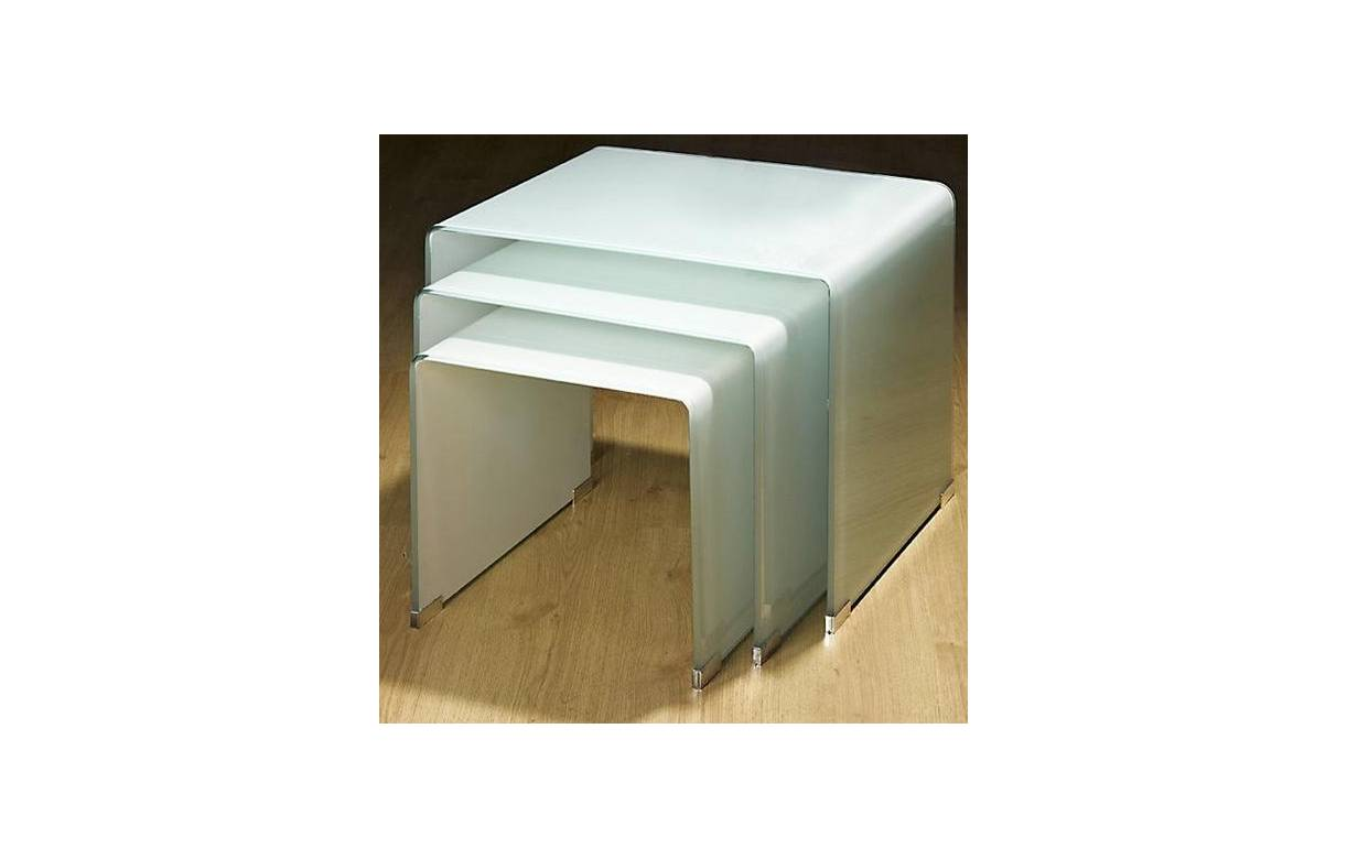 Table basse laquee wave blanc - Table basse blanc laquee ...