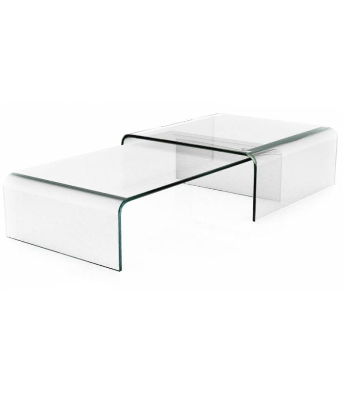 Table basse en verre design haut de gamme for Table gigogne en verre