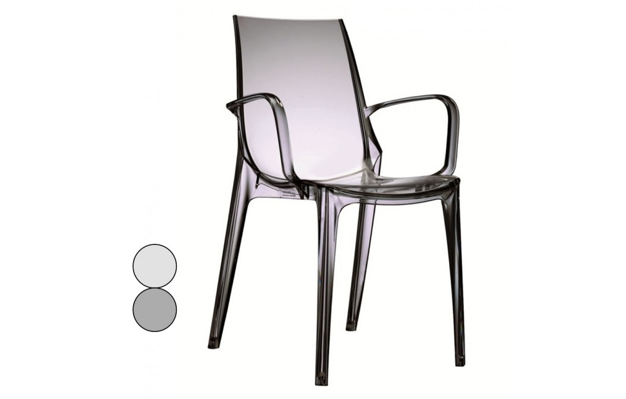Fauteuil transparent design int rieur ou ext rieur vanita for Fauteuil exterieur design