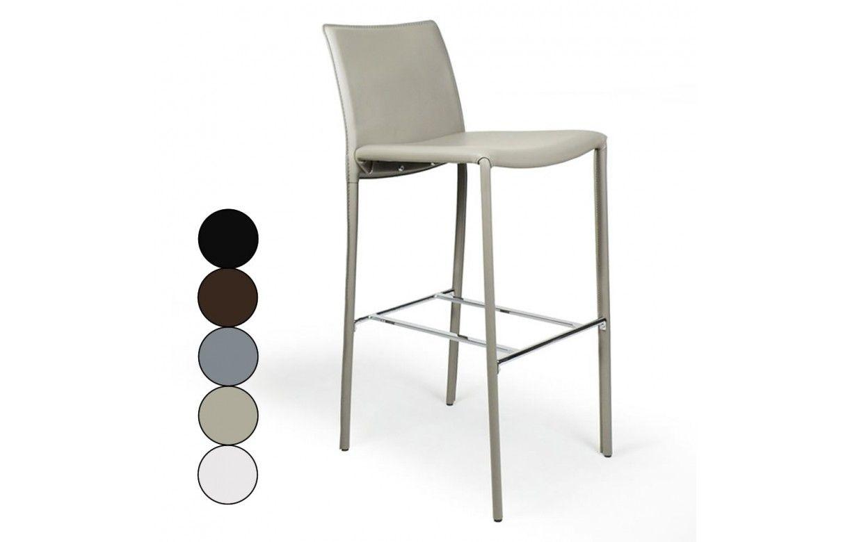 Lot De Tabourets De Bar Simili Cuir Noir : De bar chaise tabouret tabourets salon meubles