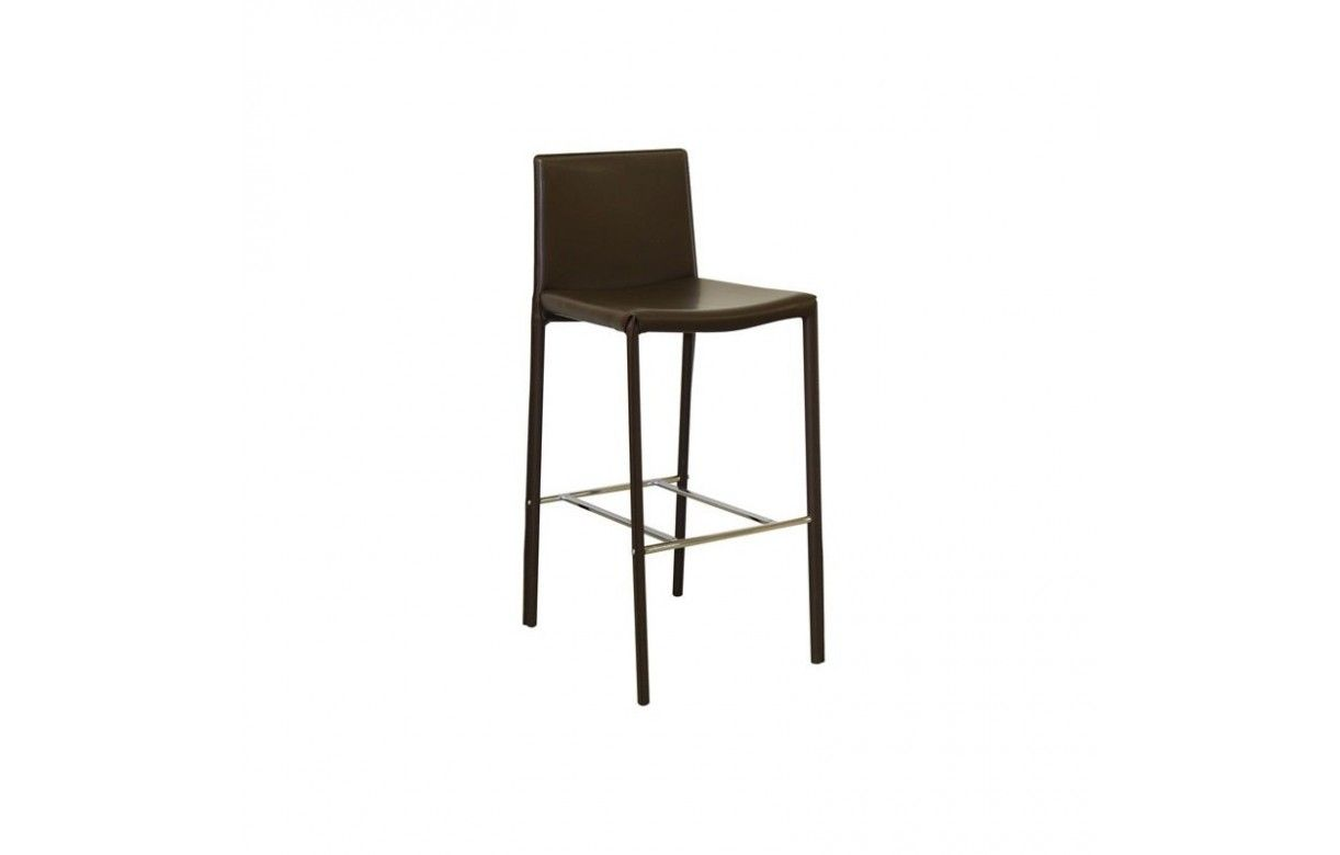 Chaise de bar tabouret en simili cuir simplio 5 coloris decome store - Chaise de bar en cuir ...