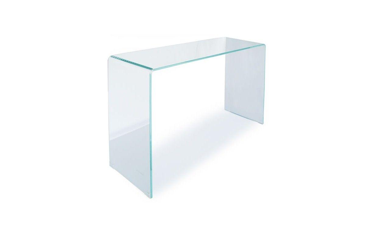 console design en verre transparent 90 ou 110 cm berily. Black Bedroom Furniture Sets. Home Design Ideas
