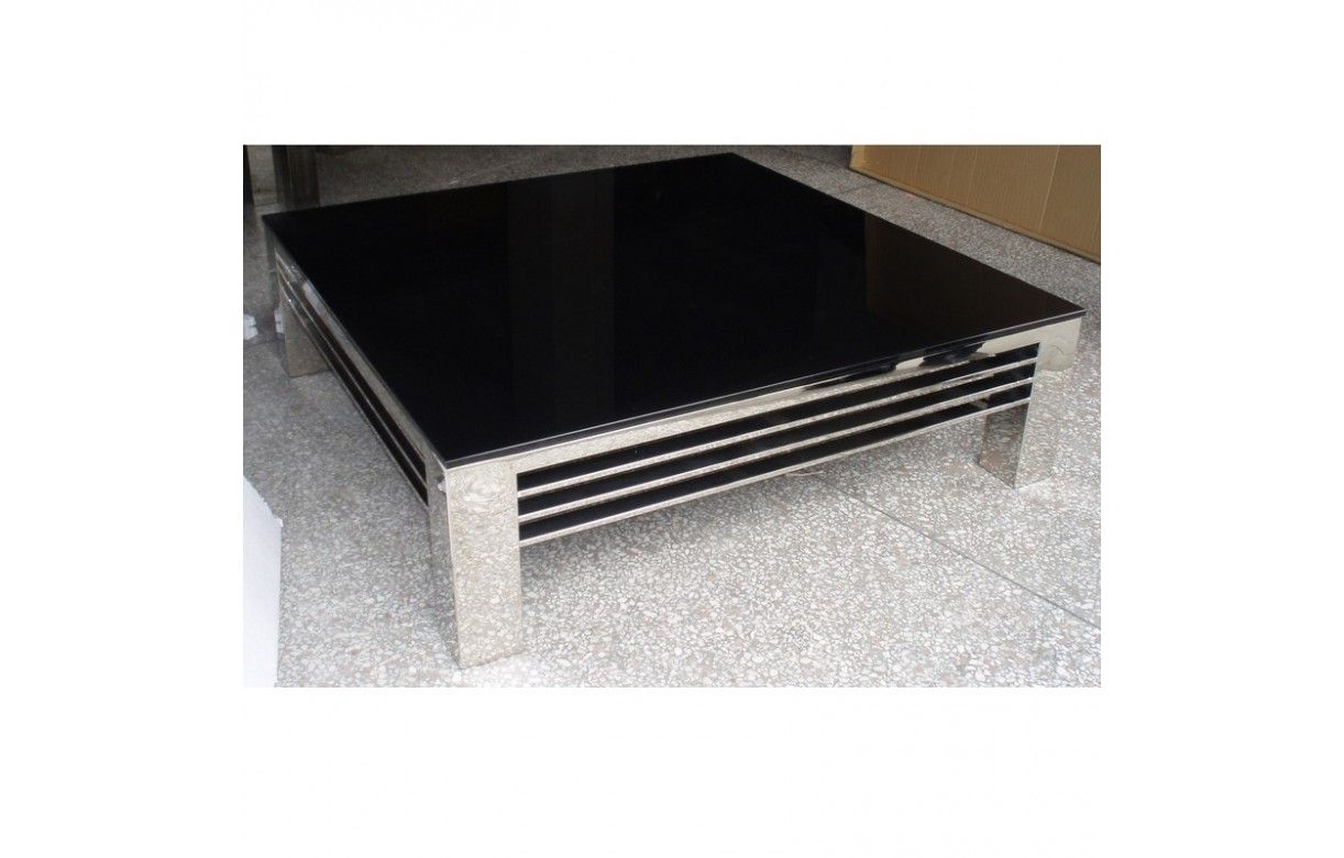 Table rabattable cuisine paris table basse acier noir for Table basse acier noir