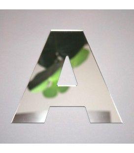Miroir lettre Arial A adhésif