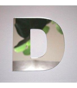 Miroir lettre Arial D adhésif