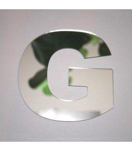 Miroir lettre Arial G adhésif