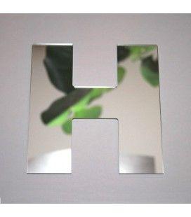 Miroir lettre Arial H adhésif