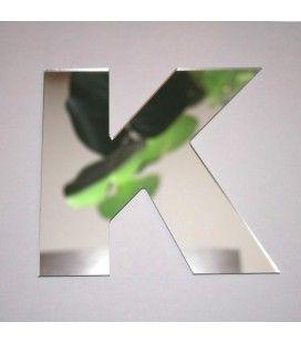 Miroir lettre Arial K adhésif