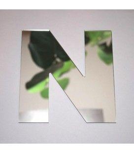 Miroir lettre Arial N adhésif