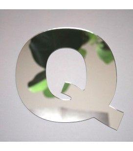 Miroir lettre Arial Q adhésif