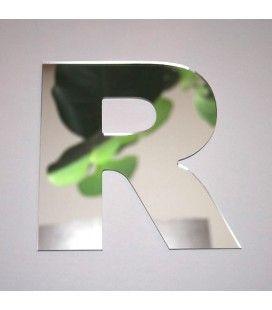 Miroir lettre Arial R adhésif