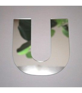 Miroir lettre Arial U adhésif