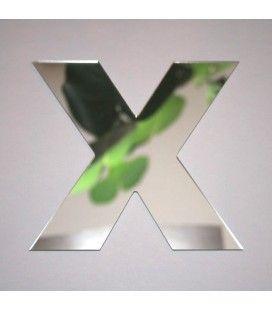 Miroir lettre Arial X adhésif