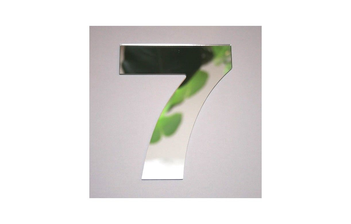 Miroir chiffre arial 7 decome store for Miroir store