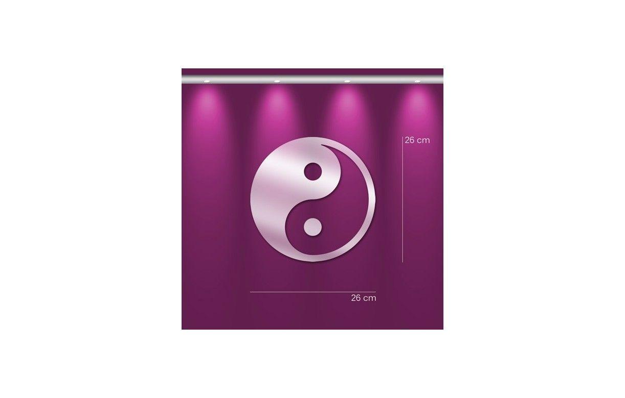 Miroir symbole chinois yin yang d co zen 3 dimensions for Deco yin yang