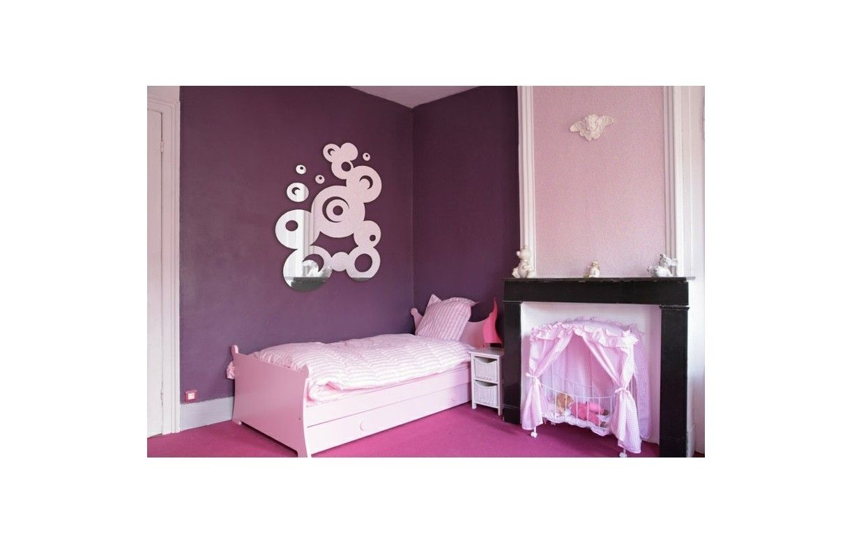 Miroir bulles fresque ronde design 3 dimensions decome for Miroir design