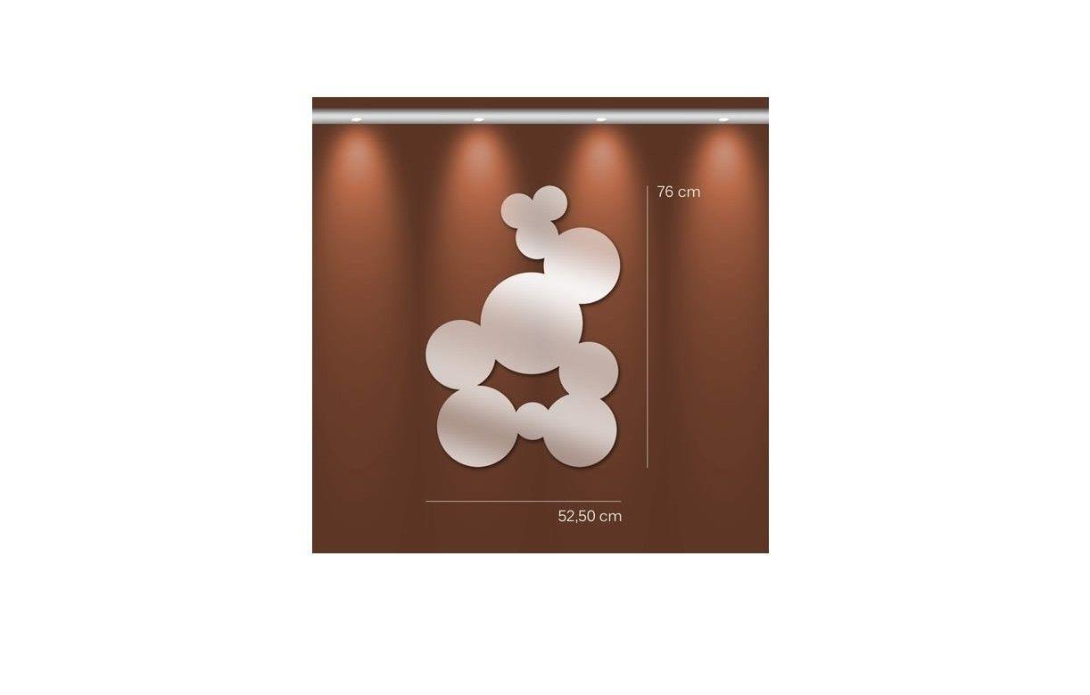 Miroir bulles pleines fresque ronde design 3 dimensions for Miroir store