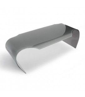 Table basse en verre gris courbé 12mm design