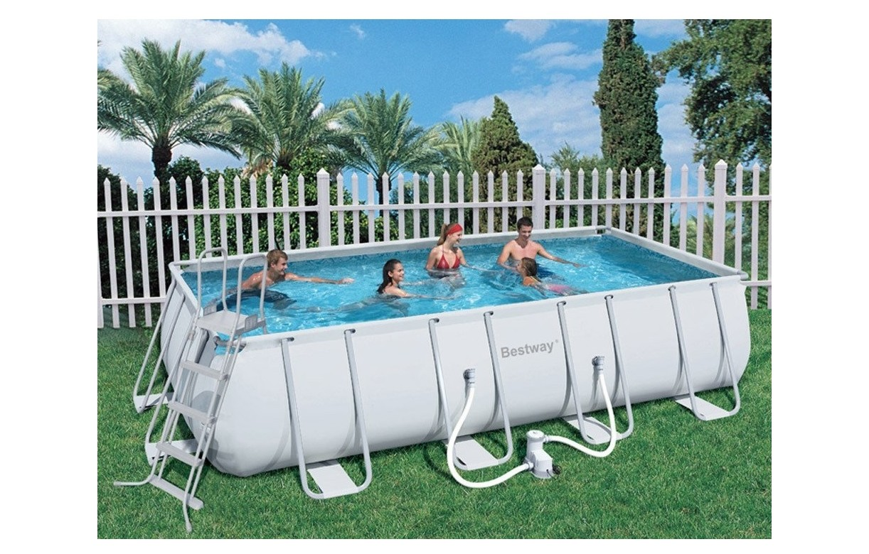 Piscine hors sol rectangulaire bestway 56224 decome store for Piscine hors sol bestway