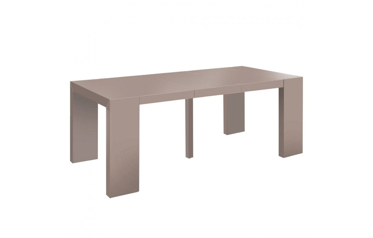 Console table extensible 10 couverts nassa 6 coloris for Table salle a manger console extensible
